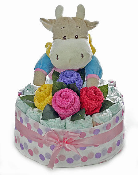 Baby Bouquet with Girl Hippo