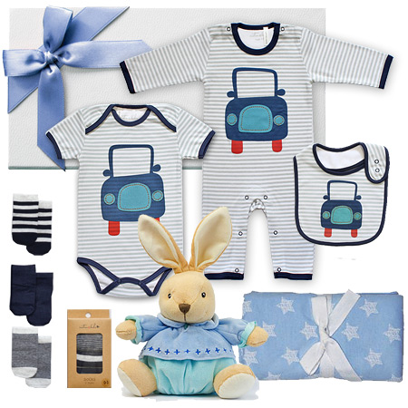 Emotion and Kids Blue Car Gift Set