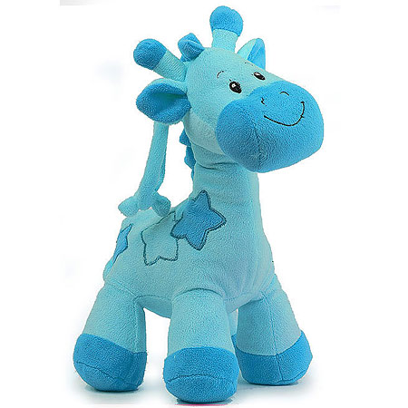 Blue Giraffe with Rattle