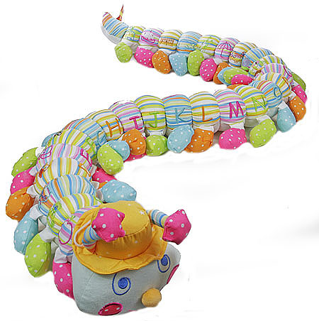 Colourful Striped Alphabet Caterpillar