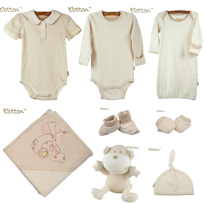 Organic Cotton Baby Girl Gift Set - Click Image to Close