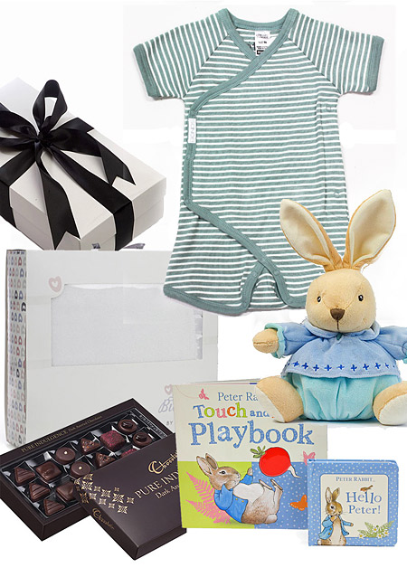Peter Rabbit Baby Gift Sets : Bonds hamper with peter rabbit baby gifts