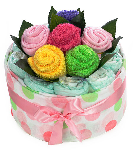 Colourful Bouquet for a Baby Girl