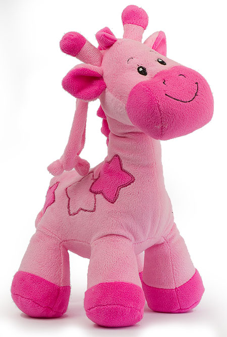 Pink Giraffe with Rattle