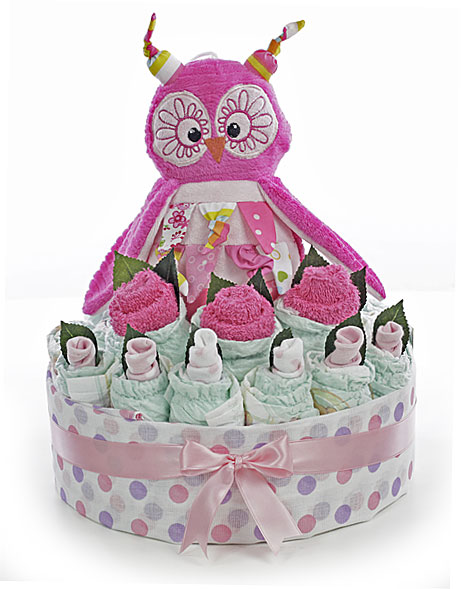 Pink Owl Baby Bouquet