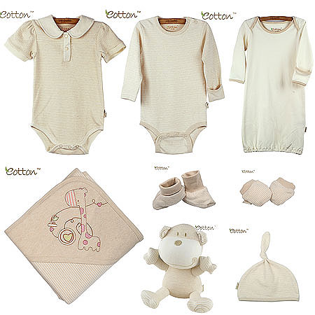 Organic Cotton Baby Girl Gift Set