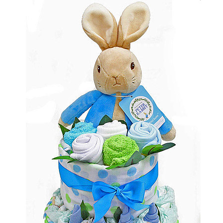 Peter Rabbit Nappy Cake