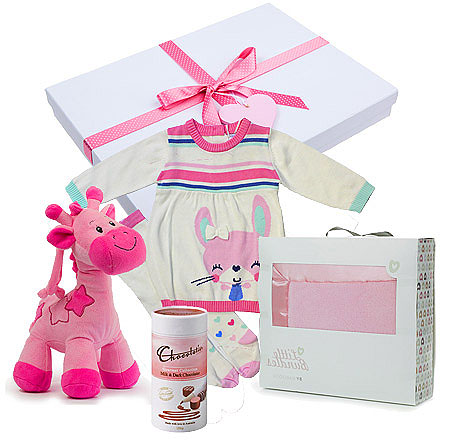 Winter Girl Gift Set in Pretty Pinks