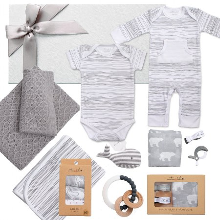 Deluxe Emotion and Kids Grey Scribble Hamper
