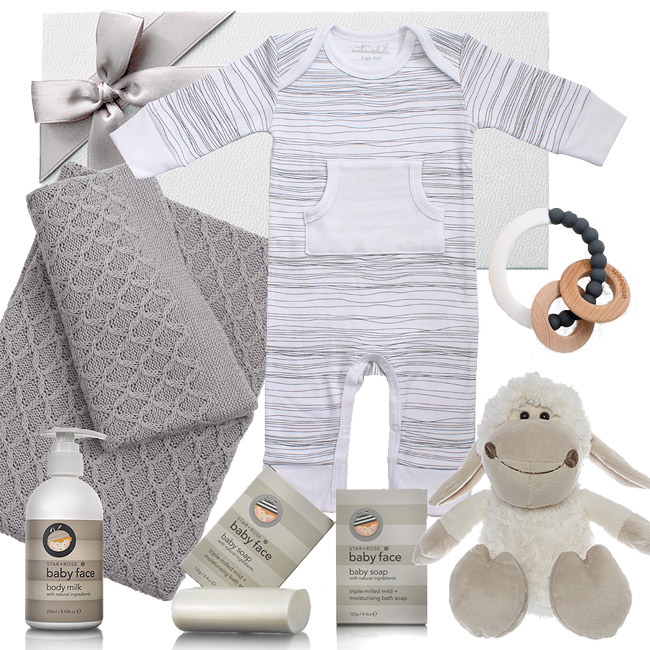Emotion and Kids Grey Scribble Hamper