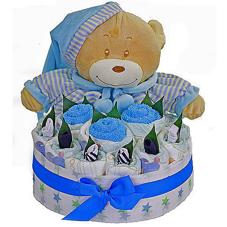 Jamie Blue Nappy Cake