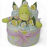 Yellow Duck Nappy Cake
