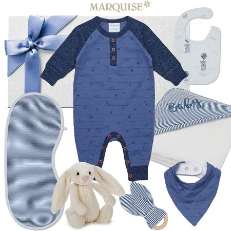 Marquise Hamper for a Baby Boy