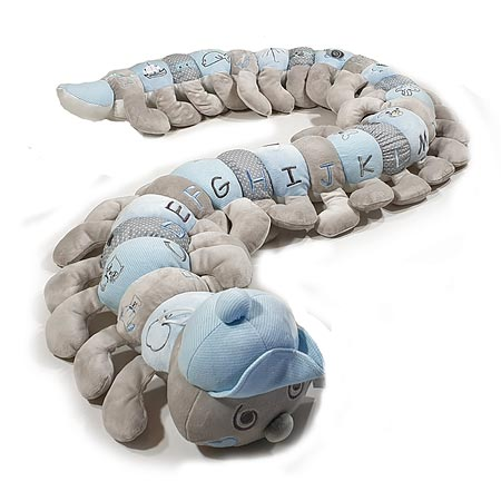Pastel Blue Alphabet Caterpillar