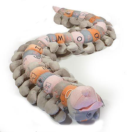 Pastel Pink and Orange Alphabet Caterpillar