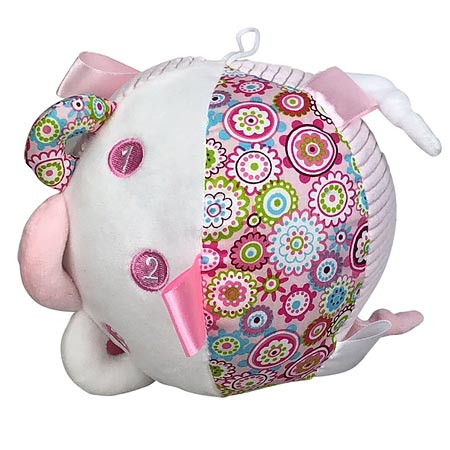 Activity Ball in Floral Pink