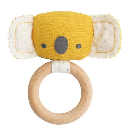Alimrose Teether Koala Rattle Butterscotch