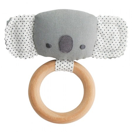 Alimrose Teether Koala Rattle Grey