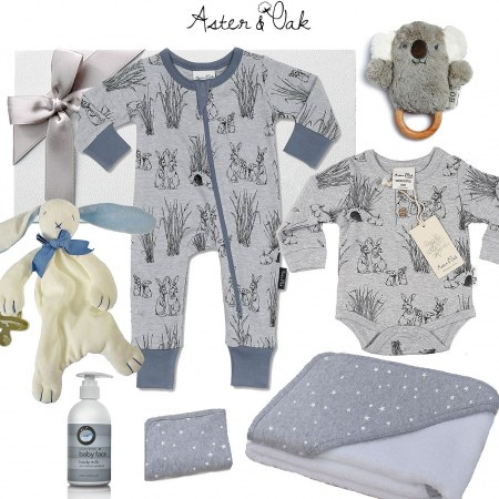 Aster & Oak Deluxe Baby Boy Hamper