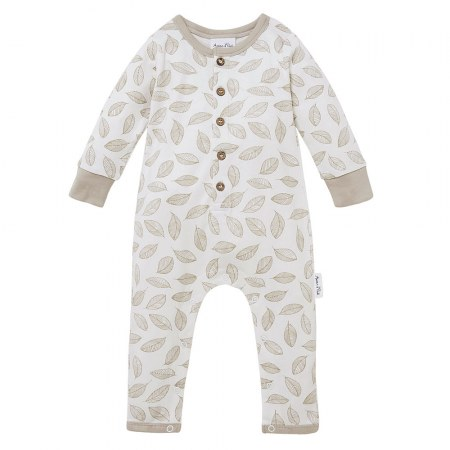Aster & Oak Leaf Drop Button Romper