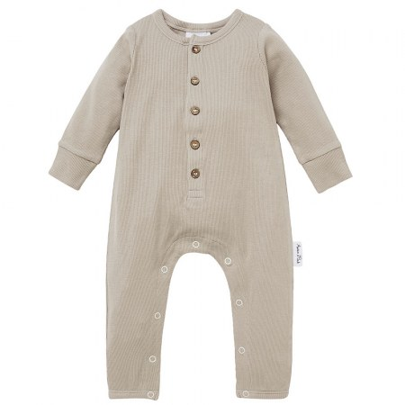 Aster & Oak Stone Rib Button Romper