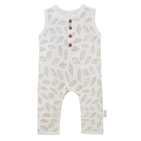 Aster & Oak Leaf Drop Henley Romper
