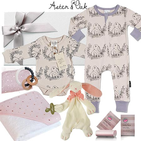 Aster & Oak Deluxe Baby Girl Hamper