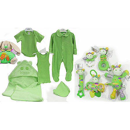 Baby Boo Green Gift Set with Rattlers