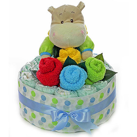 Baby Bouquet with Boy Hippo