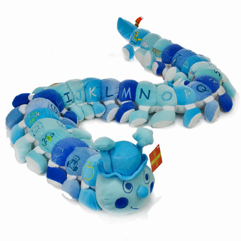 Alphabet Caterpillar in Blue Tones