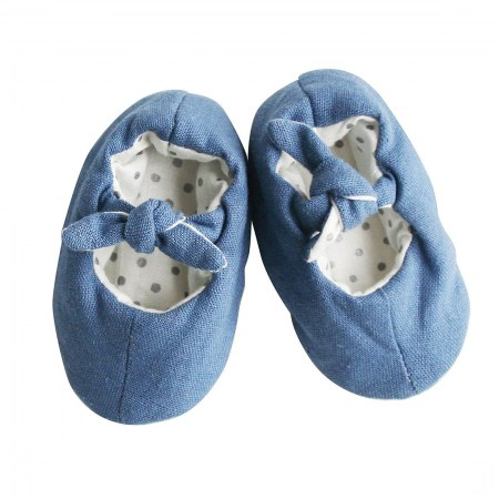 Bobby Baby Slippers Chambray Linen