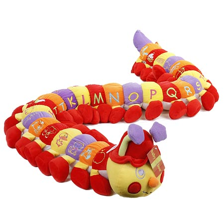 Alphabet Caterpillar in Red and Orange