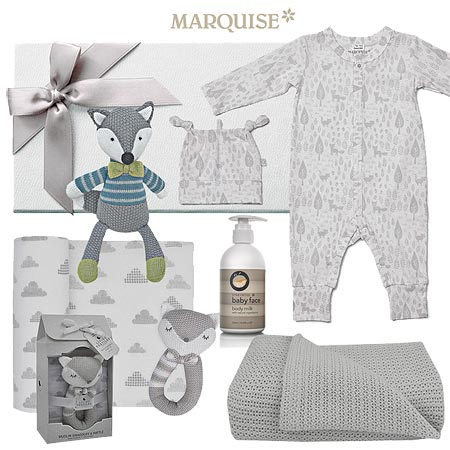 Marquise Growsuit & Beanie with Fox Theme