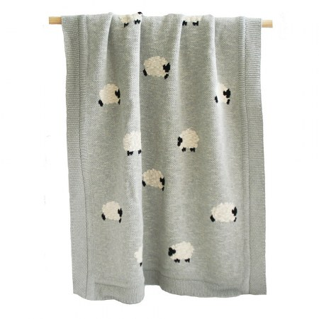 Blanket Organic Cotton Grey