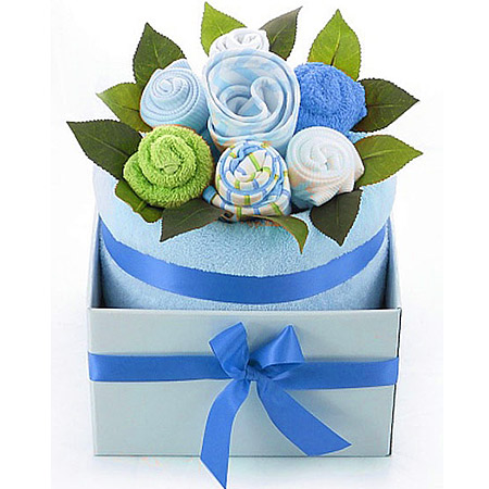 Blue Baby Boy Bouquet