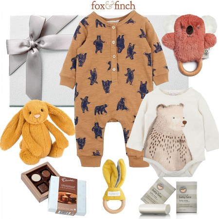 Fox & Finch Deluxe Blue Bear Hamper