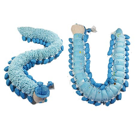 Shaggy Blue Alphabet Caterpillar