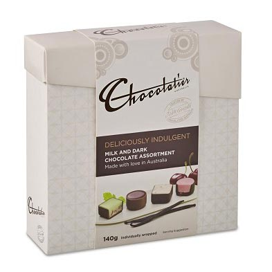 Deliciously Indulgent Milk and Dark Chocolates 140g