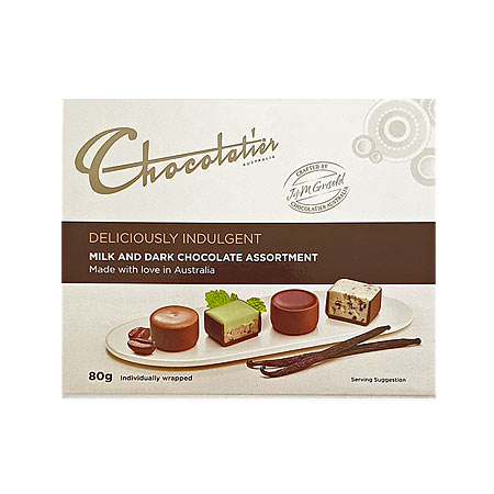 Deliciously Indulgent Milk and Dark Chocolates 80g