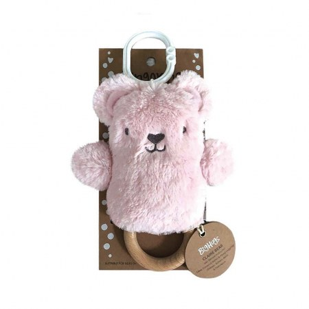 Claire Bear Wooden Teether