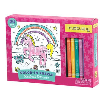 Colour in Unicorn Puzzle