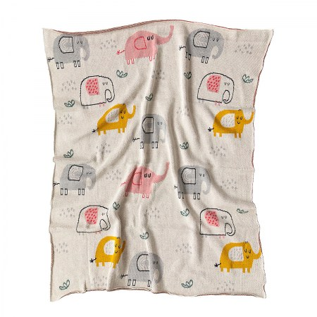Eddie Elephants Blanket