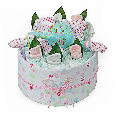 Elephant Mini Nappy Cake
