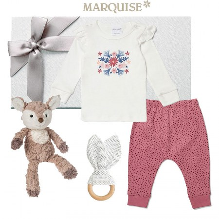 Marquise Enchanted Floral Top & Pants Hamper