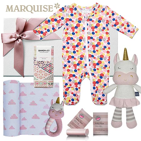 Marquise Spotted Hamper & Kenzie Gift Set