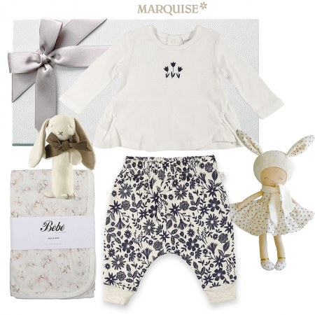 Marquise Deluxe Floral Baby Hamper