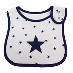 Navy Star Bib