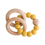Alimrose Beechwood Teether in Butterscotch