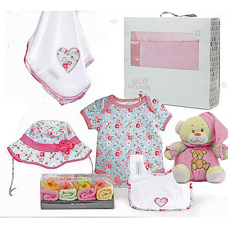 4 Little Ducks Girl Floral Set