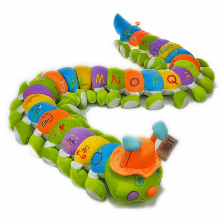 Boy Alphabet Caterpillar with Orange Hat